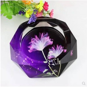 Hochwertiger Kristallaschenbecher, Wohnkultur, Haushalts- und Bürobedarf, 12 cm Durchmesser