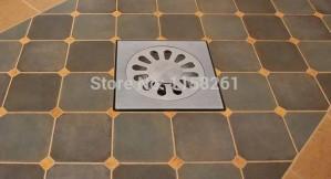 Hohe qualität 10 cm edelstahl bodenablauf bad küche dusche doppel anti-geruch bodenablauf platz badablauf bs-9016