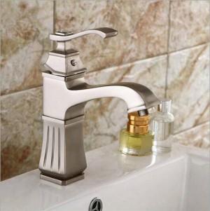 Hohe qualität Gebürstet waschbecken wasserhahn wasserfall nickel wasserhahn waschbecken wasserhahn kalt und warm mischbatterie waschbecken wasserhahn LAD-409