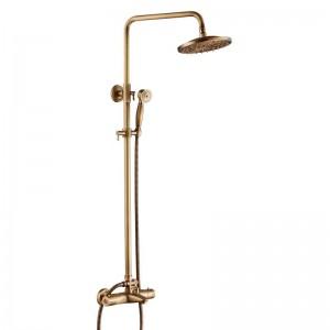 Hochwertige Thermostat Bad Dusche Set heiß und kalt Antqiue Dusche Wasserhahn Badewanne Thermostat Dusche Mischbatterie XT404