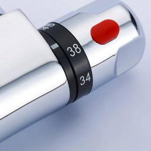 Hochwertiges thermostatisches mischventil Temperaturregelung Duschventil Wasserhahn Duschrohr Thermostatventil Wandmontage XR829B