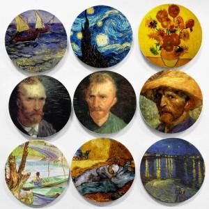 Holland berühmten Maler Vincent Willem Van Gogh Malerei Wandbehang dekorative Platten Impressionismus Stil für Heimtextilien