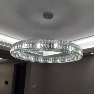 Hotelhalle führte runder Kristallleuchter des Ringlichtes für Wohnzimmer geführte Leuchte des Suspendierungs-Esszimmers runde Leuchterleuchter
