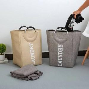 Haushalt einfache Oxford Stoff Spielzeug Eimer Ablagekorb, um schmutzige Kleidung Ablagekorb Korb Wäschekorb zu setzen