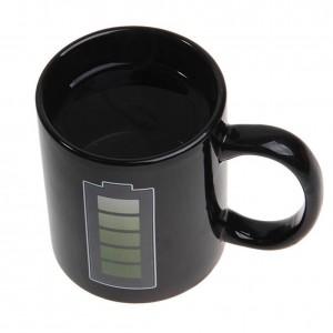 Innovative Batterie Farbwechsel Kaffeetasse Keramiktasse Thermo-Induktionsbecher Interessante hitzebeständige Kaffeetasse