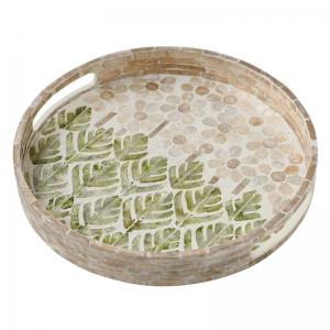 InsFashion super schickes grünes Muschel-Serviertablett für Dekoration im nordischen Stil oder Strandhochzeitsfeiern
