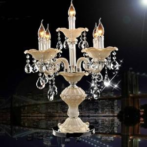 Italien Esszimmer Kristall Tischlampe Led Kerzenhalter Hochzeit Kandelaber Licht Schlafzimmer Küchentisch Licht Glas Kerzenhalter