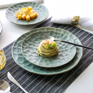 Japanische kreative Keramik Geschirr Teller Küche Dish Art Western Dish Steak Platte