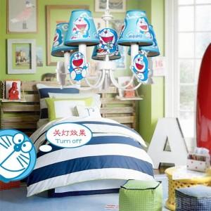 """kinder doraemon licht cosplay pendelleuchte für kinderzimmer 19 """"blau led lamparas junge schlafzimmer baby prinzessin led pendelleuchten"""