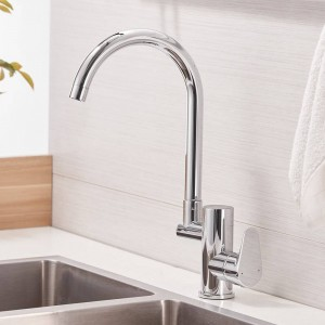 Küchenarmatur Digitale Küchenarmatur Wasser Power Sink Mixer Messing Verchromt Display Wasserhahn Smart Tap LAD-16588