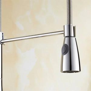 Küchenarmatur Neu Design 360 Swivel Massivem Messing Einhebelmischer Waschtischarmatur Chrom Heißes und kaltes Wasser Torneira LAD-65