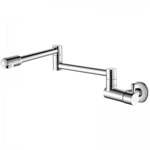 Küchenarmaturen 360-Grad-Drehung einzigen Kaltwasserhahn Waschbecken Wandmontage Wasserhahn Kaltwasserhahn einzigen Kaltwasserhahn L-8
