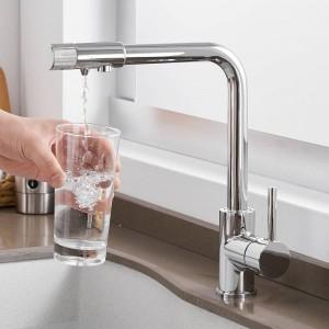 Küchenarmaturen Deck Mount Purify Mischbatterie 360-Grad-Drehung mit Wasseraufbereitung Einlochmontagekran Für Küche LAD-0185