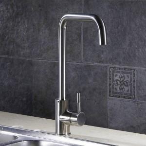 Küchenarmaturen Küchenwasserhahn Edelstahl Spülbecken Wasserhahn Einhand Hoch Auslauf Waschbecken Mischbatterien YC-CF2838