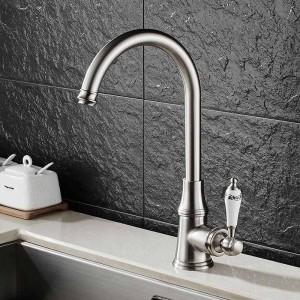 Küchenarmaturen Einhebelmischer 360 Rotate Deck Mounted Küchenarmatur Torneira Einzelhalter Einlochmischer Wasserhähne MH-03