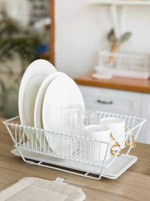Küchenregal Waschplatte Essstäbchen Geschirrmesser Lagerregal Abtrocknungsgestell