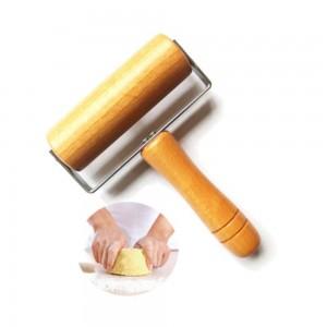 Küche Holz Nudelholz Mit Griff Fondant Kuchen Dekoration Teigrolle Backen Kochen Werkzeuge Küche Zubehör 1 stücke