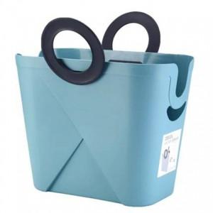 Große rechteckige gesteppte Plastikkörbchenbadezimmerringeinkaufskorbwohnzimmerspielzeug-Ablagekorb schmutzige Kleidung