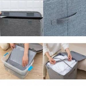 Große Waschbar Schmutzige Kleidung Ablagekorb Haushalt Einfache Lagerung Wäschekorb Schlafzimmer Kleidung Ablagekorb Faltbare