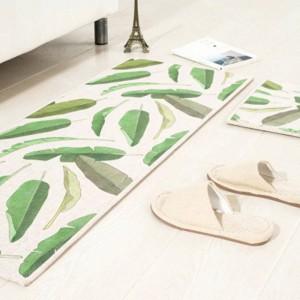 Blattmuster MAT Quadratisches Kissen Küchentür Pad Bad Rutschfest Staub entfernen Fußmatten Couchtisch Teppich Bettwäsche Matten Teppiche