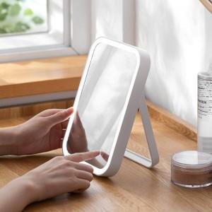 LED-Licht Kosmetikspiegel home desktop wiederaufladbare Kosmetikspiegel desktop Klappspiegel mit Licht wx11271135