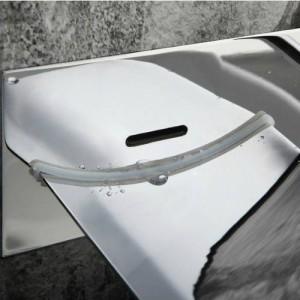 LED Wand Glas Wasserfall Messing Wasserhahn Waschbecken Mischbatterie