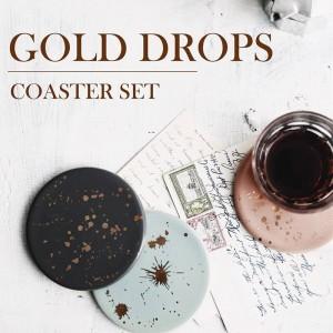 Lekoch 4Pcs Ceramic Gold Point Muster Hitzebeständigkeit Tischset Cup Mats Kaffeetasse Untersetzer Cup Cushion Minions