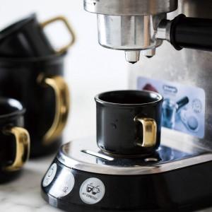 Lekoch 500ml Schwarz Keramik Kaffeetasse Mit Gold Handgriff Reisebecher Tee Milch Wärme Tasse Für Home Kitchen Drink Zubehör