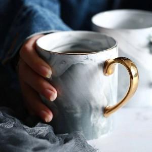 Lekoch European Marble Grain Phnom Penh tassen Paar Liebhaber & # 39s Geschenk Morgen Tasse Milch Kaffee Tee Frühstück Porzellan Tasse für Geschenk