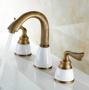 Luxus 3 Stück Set Wasserhahn Bad Mischer Deck Montiert Waschbecken Wasserhahn Waschbecken Wc Wasserhahn Set Golden Finish Mischbatterie Wasserhahn 8209
