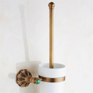 Luxus Antike Bronze Finish Toilettenbürstenhalter Mit Keramiktasse Bad Dekoration Bad-accessoires 9082 Karat
