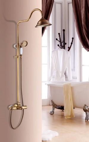 Luxus Antike Thermostat duschgarnitur duscharmatur Heiße und Kalte Anqtique Duscharmatur Badewanne thermostat Brausebatterie XT403