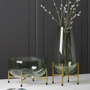 Luxus Glasvase Designer Obstteller Moderne Minimalistische Transparente Vase Dekoration Kreative Dekoration Geschenk