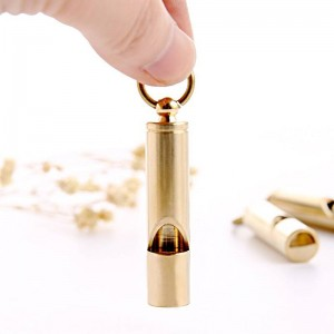 Luxus Gold Metal Whistle Überleben in der Wildnis Selbstverteidigung Kleidung Dekor Messing Storage Whistle Small und Exquisite Organizer