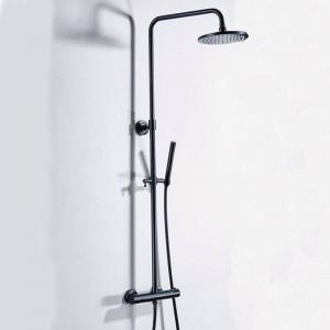 Luxus Thermostat Badezimmer Dusche Set Schwarz Heiße und Kalte Dusche Wasserhahn Badewanne Thermostat Dusche Mischbatterie XT406