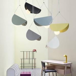 Macaron moderne einfache Pendelleuchten Eisen Kunst bunten Lampenschirm Esszimmer Droplight Foyer Schlafzimmer Dekoration Leuchte