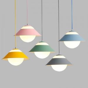 Macaron moderne einfache Pendelleuchten Multi Lampen Combo bunte Esszimmer Droplight Foyer Schlafzimmer Dekoration Leuchte