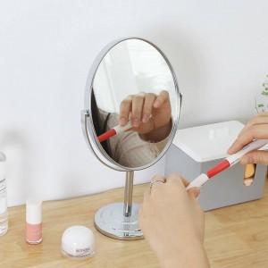 Schminkspiegel Desktop runden ovalen Tisch Spiegel einfache Damen Haushalt Metall doppelseitige Kosmetikspiegel wx8281449