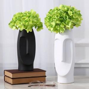 Mann Gesicht Blumenvase kreative zeitgenössische Vasen dekorative Vasen mit künstlichen Blumen