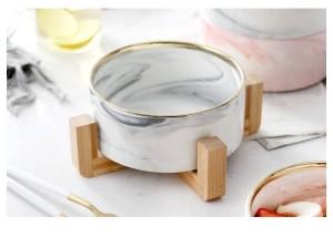 Marmorbambus Das Regal Sand Ziehen Graue Schale Westlicher Stil Obstschale Dessertschale Westlicher Stil Speisesalat Keramik Geschirr