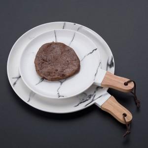 Marmorkeramik Steakgericht Europäische Art Fruchtsalat Westliches Essen Flacher Teller Dessertkreis Teller Tellersets