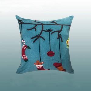 Frohe Weihnachten Kissenbezug Luxus Gold Stickerei Kissen Cojines Decorativos Para Sofa Dekorationen Für Home Festival