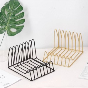 Metall Gold Multifunktionsregal Korb Unregelmäßige Moderne Eisen Schreibtisch Ablagekorb Magazin Zeitung Buch Organizer
