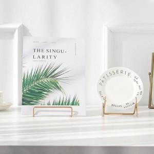 Metall Gold Pad Halter Lagerregal Skandinavien einfaches Buch Handy Rack Storage Home Organizer kreativ