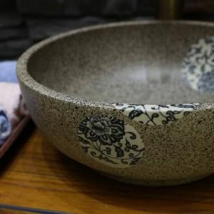 Mini Porzellan Keramik Waschbecken Handarbeit Aufsatzbecken Waschbecken Keramik Waschbecken klein 30CM / 35CM