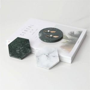 Minimalistische Marmor Muster Büro Tisch Speicher Platte Geometrie schicke skandinavische nordische Keramik Schreibtisch Ablage Organizer Dekor