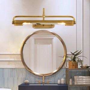 Spiegel kupfer led licht make-up led scheinwerfer lange wandleuchte für ankleideraum nachtwandleuchte flur badezimmerspiegelleuchte