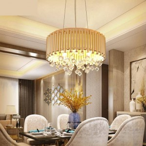 moderne kronleuchterbeleuchtung esszimmer lampe luxus art deco anhänger lustre kristall lampe haushalt kreative projekt led licht
