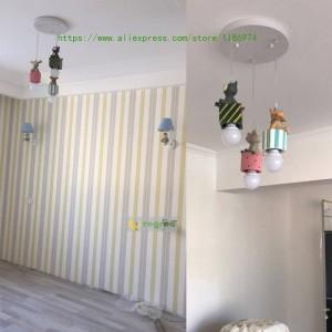 Moderne kinderzimmer led amerikanische kinder lampen junge mädchen cartoon schlafzimmer lampe e27 pendelleuchte beleuchtung weihnachtsdekoration
