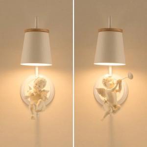 Moderne led engel wandleuchte kinder lampe wandlampen nordic beleuchtung schlafzimmer lampen hochzeitsbüro led wandleuchten nachttischlampe